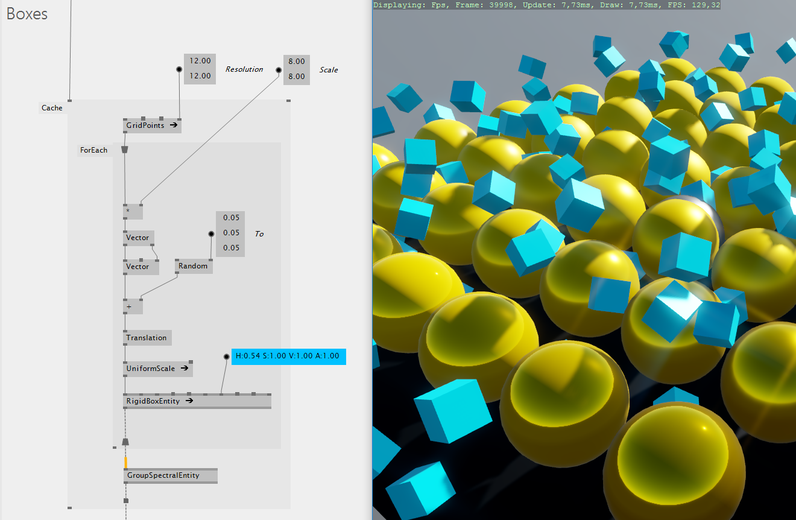 vvvv  Realtime 3d Physics and Shading using the Xenko library